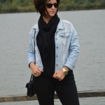 The first : Black and Denim