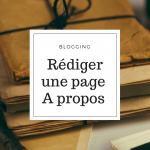 Rédiger une page à propos