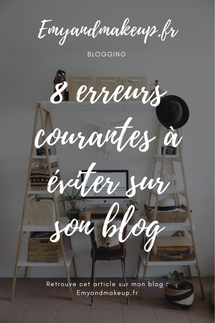 Erreurs à éviter sur un blog